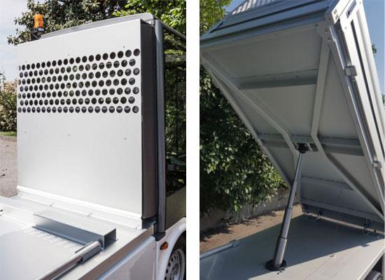 Gastone pick-up elettrico con cassone ribaltabile - Esagono Energia