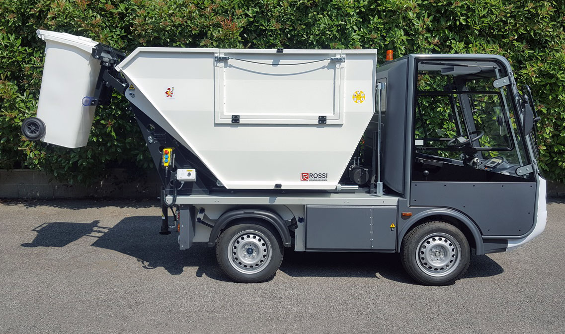 GASTONE ELECTRIC PICK-UP – VAN WITH WASTE TIPPING AND BIN LIFTING UNIT- Esagono Energia
