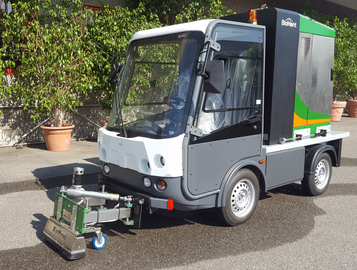 Electric vehicle BIOMANT weeding control system - Esagono Energia