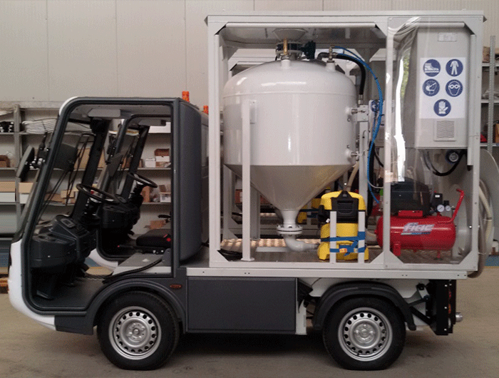 Electric Pick-up Gastone for train maintenance - Esagono Energia