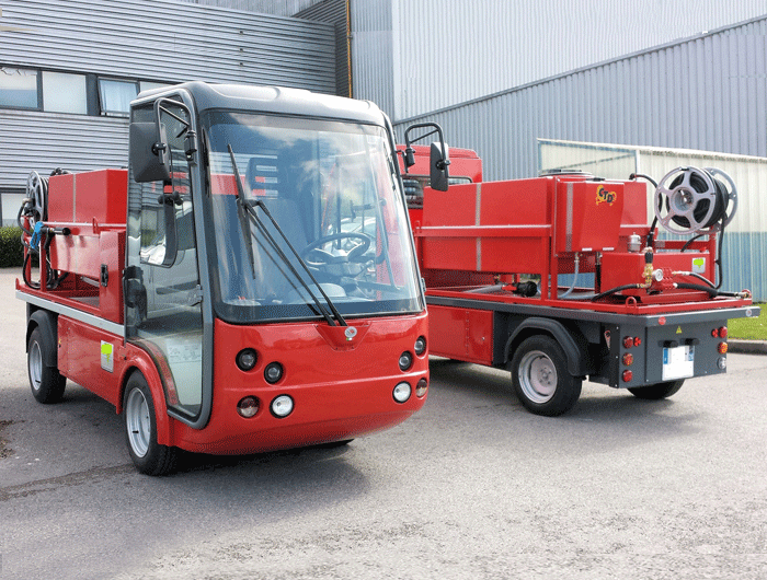 Gastone electric pick-up for firemen - Esagono Energia