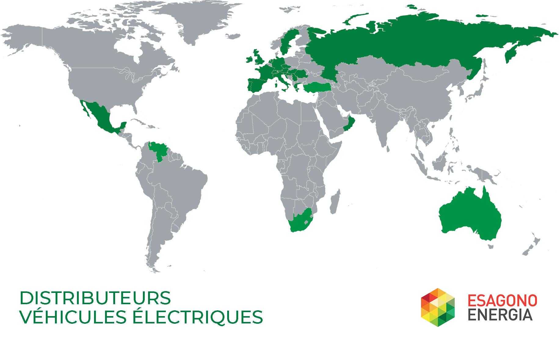 Distributeurs Véhicules électriques Esagono Energia